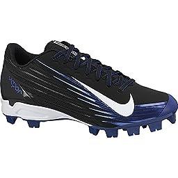 Boy\'s Nike Vapor Strike 2 Metal Cleat Substitute (GS) Baseball Cleat Black/Blue Size 5.5 M US