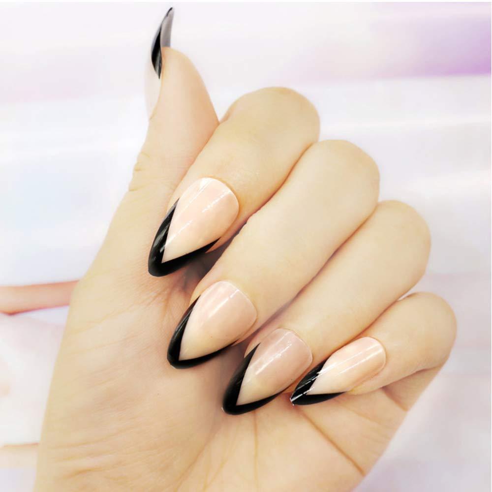 SRTYH False Nails Black Transparent Color High Heels Style Fake ...