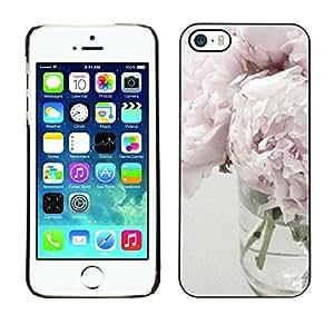 Paccase / SLIM PC / Aliminium Casa Carcasa Funda Case Cover - Light Purple White Vase Design - Apple Iphone 5 / 5S