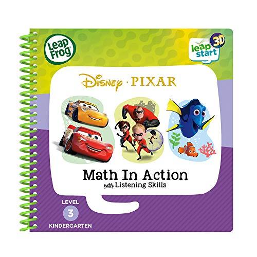 LeapFrog Leapstart 3D Disney Pixar Pals Math in Action Book