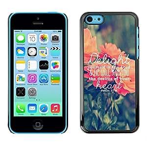 Delicias texto Ama a Dios Primavera melocotón Verde - Metal de aluminio y de plástico duro Caja del teléfono - Negro - iPhone 5C