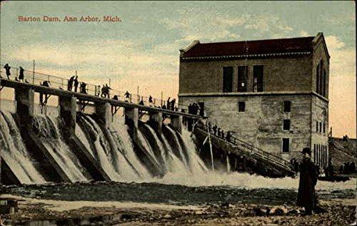 Arbor Barton - Barton Dam, Ann Arbor, Mich Ann Arbor, Michigan Original Vintage Postcard