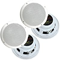 4) NEW PYRAMID MDC7 6.5 480W Marine/Boat Speakers Waterproof Outdoor White