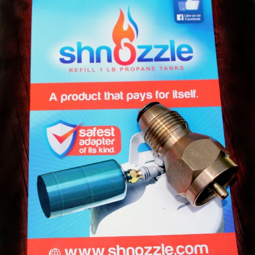 Shnozzle Safest Propane Refill Adapter For One Pound