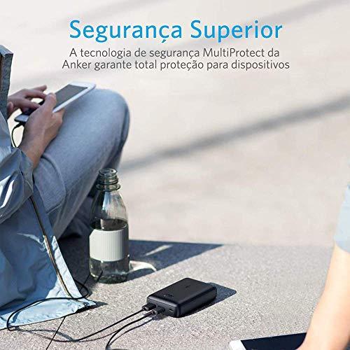 Carregador Portátil PowerBank Anker PowerCore Select 10.000mAh, 2 portas USB, Tecnologia de Carregamento Rápido, Preto