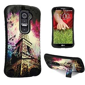 DuroCase ? LG G2 D800 / D801 / LS980 / VS980 Kickstand Case - (Eiffel Tower Paris Space)