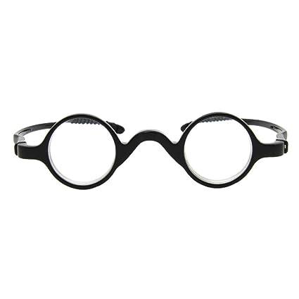 74e09648d2 Pequeña Redondas Gafas de lectura Hombre Mujer - Hzjundasi Los anteojos  Marco Lector Dioptría +1.5