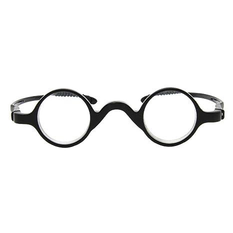 4ea573b327 Pequeña Redondas Gafas de lectura Hombre Mujer - Hzjundasi Los anteojos  Marco Lector Dioptría +2.0