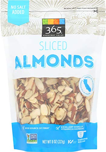 (365 Everyday Value Almonds, Sliced, 8)