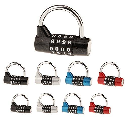 sharplace 2pcs cadenas de combinaison de 4 chiffre. Black Bedroom Furniture Sets. Home Design Ideas