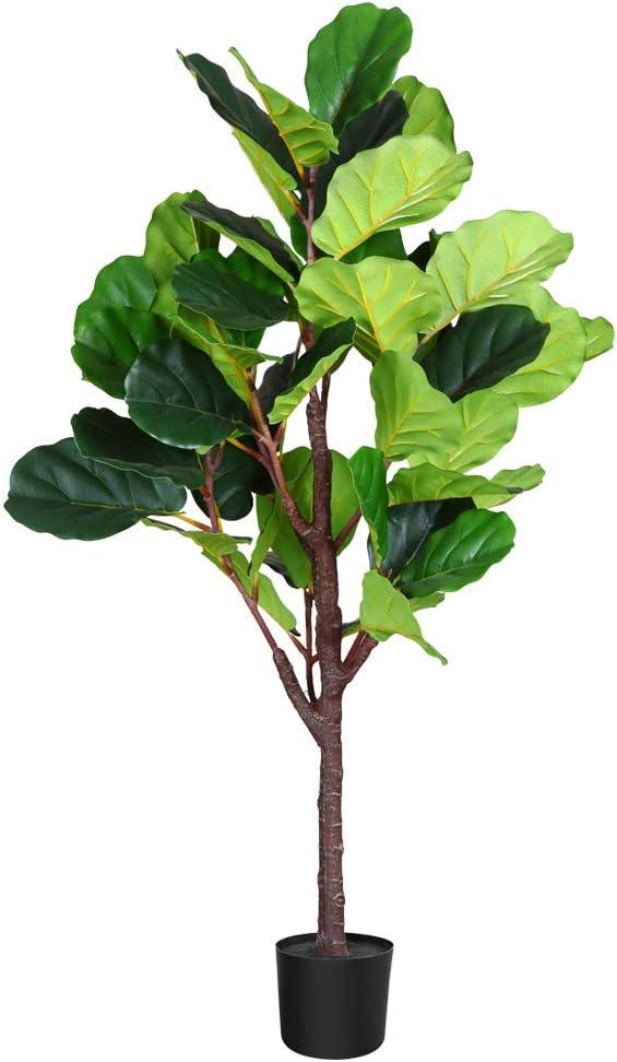 Fopamtri 28 Inch Fake Fiddle Leaf Fig Plant