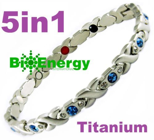 Magnetic Energy Germanium Armband Power Bracelet Health Bio 5in1 Bio 01457