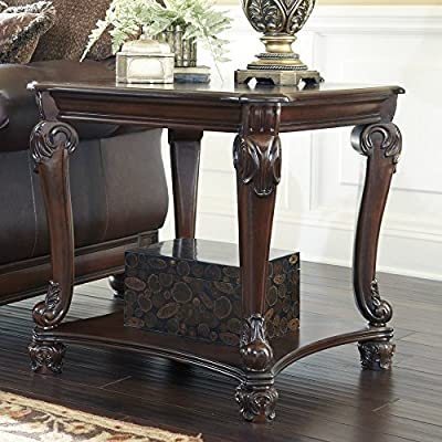 Signature Design By Ashley Norcastle Brown Square End Table