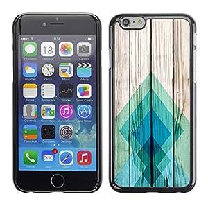 Cubierta de la caja de protección la piel dura para el Apple iPhone 6 (4.7) - teal pattern square