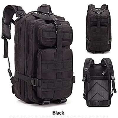 Tenozek 3P The Rucksack March Outdoor Tactical Backpack Shoulders Bag Black