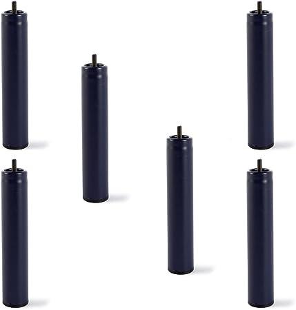 Juego de 6 patas metálicas universales para somieres ó bases tapizadas,Se unen a cualquier tipo de s