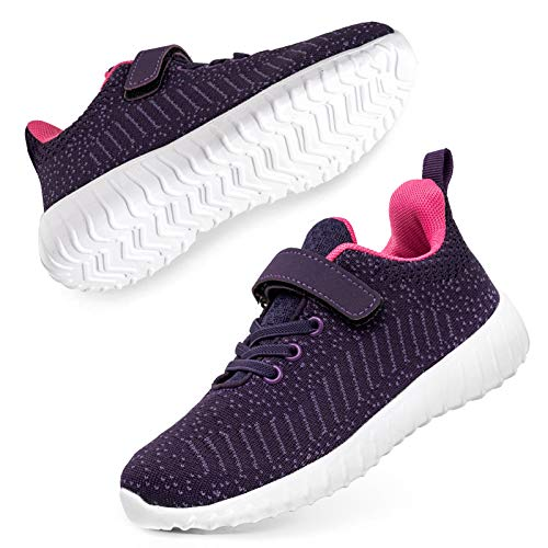 SOBASO Boys Girls Sneakers Kids Breathable Mesh Lightweight Tennis Athletic Running Shoes
