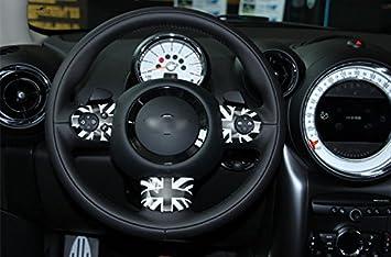 Artudatech Union Jack Steering Wheel Cover for Mini Cooper S Countryman R55 R56 R58