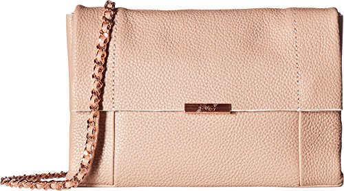 Ted BakerSMALL UNDERLINED FLAP CROSS BODY BAG - (Parson) Para mujer pink_antique pink, pink