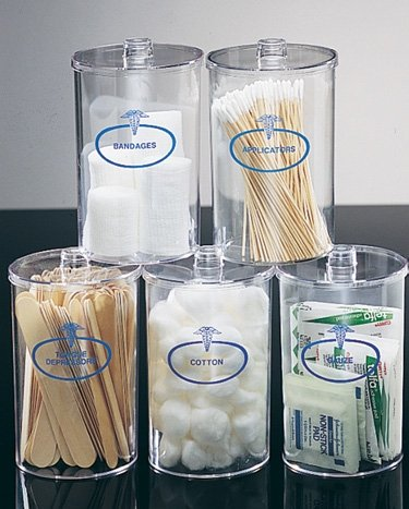 Brigss HealthCare MABIS Plastic Stor-A-Lot Sundry Jars with Imprints, Clear Briggs Healthcare