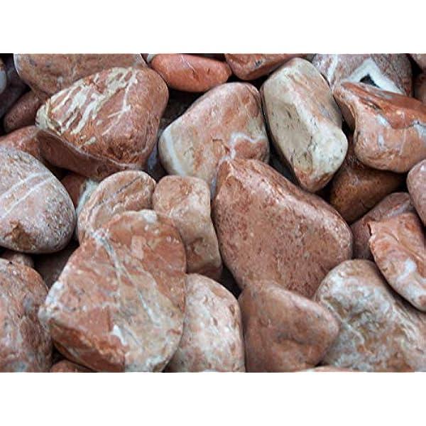 GYD Saco Piedra Jardin Canto RODADO Rojo Alicante 20-40 MM 20 KG: Amazon.es: Jardín
