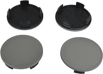 White Label 4 X Außen 55 0mm Innen 49 5mm Nabenkappen Felgendeckel Radnabendeckel Auto