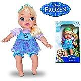 Baby Elsa Pano com Cabelo Mimo Azul