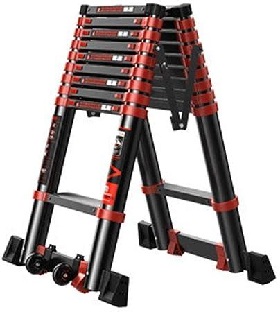JLDN Telescópica Escalerilla, la extensión de Escalera Extensible de Tijera Antideslizantes de Aluminio Portable A-Style,2.3m/7.5ft: Amazon.es: Hogar