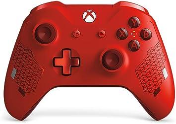 Microsoft - Mando inalámbrico deportivo, Sport Red [Edición Especial]