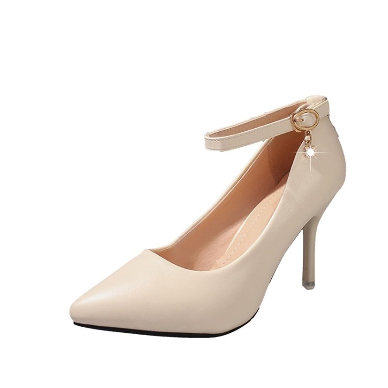 Exing Chaussures pour Femmes en Similicuir Plate-Forme d'été Talon compensé pour la Robe Rouge Noir Or Argent (Couleur : D, Taille : 43)