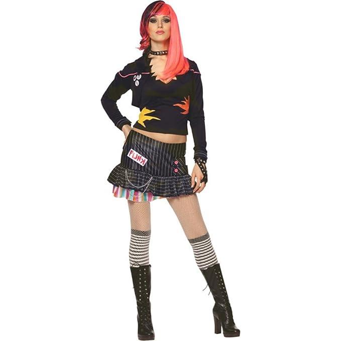 Amazon.com: Punk Rock Girl – Disfraz para Halloween (Tamaño ...