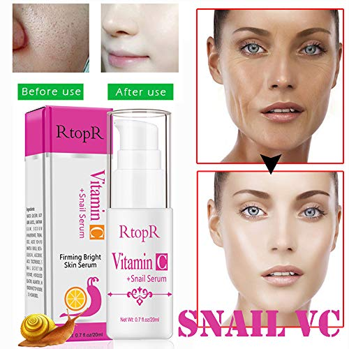 Euone VC Essence, Snail Vitamin C Liquid Serum Anti-Aging Moisture Whitening VC Essence Oil 20ml