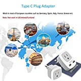 European Travel Plug Adapter, TESSAN