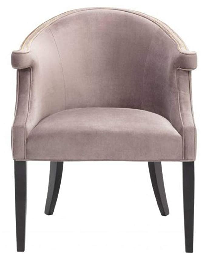 Casa-Padrino sillón de salón Terciopelo Taupe/Negro 70 x 70 ...