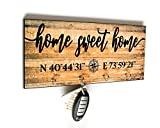 Home Sweet Home Wall Sign Key Holder with Your Home's Coordinates, Made in USA by PaisleyGroveGIFTS Review