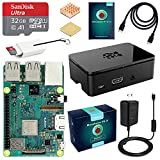 ABOX Raspberry Pi 3 B+ (B Plus) Ultimate Starter Kit with 32GB Class 10 SanDisk Micro SD Card Noobs, 3A On/Off Switch Power Supply, Premium Black Case and Other Necessary Accessories