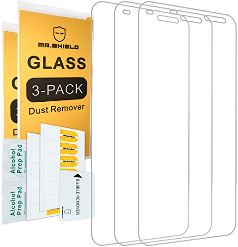 [3-PACK]-Mr Shield For Blackberry DTEK60 [Tempered Glass] Screen Protector with Lifetime Replacement Warranty