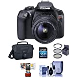 Canon EOS Rebel T6 Digital SLR Camera Kit EF-S 18-55mm f/3.5-5.6 IS II Lens - Bundle Camera Case, 16GB SDHC Card, Cleaning Kit, 58mm UV Filter, Mac Software Package