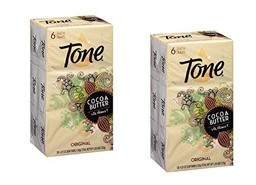 Tone Soap Bar, Cocoa Butter, Original, 4.25 Oz Per Bar (12 Bars Total)