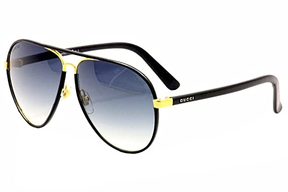315f487327d New GUCCI Sunglasses GG 2887 GG2887 UZA JJ Black Leather Women Aviator   Amazon.de  Bekleidung