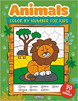 Animals Color By Number For Kids: 50 Animals Including Farm ...