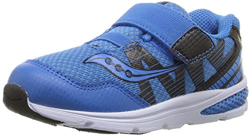 Saucony Baby Ride Pro Running Shoe (Toddler/Little Kid), Royal/Black, 4 M US Toddler