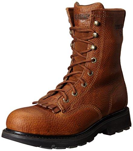Wolverine Men's Herrin 8 Inch Steel Toe SR Lacer Work Boot, Brown, 9 M - Lacer Boots Toe Steel