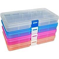 Qualsen Ajustable Caja de Almacenamiento de Plástico Joyería
