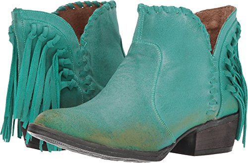 Braided Urban Back Leather Corral Boots Turquoise Top Women's Fringe Shortie wRAxFI