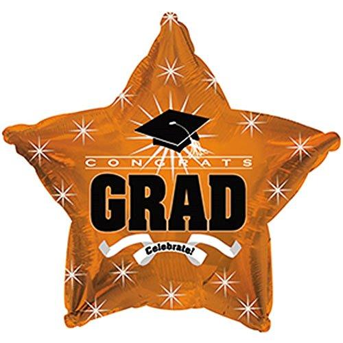Star Shape Graduation Balloons School Colors - 5 Count -