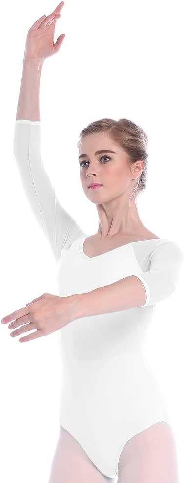 Skyrocket Justaucorps de Danse Filles Classique Leotard Manches 3//4 Ballet V/êtements de Danse et Gymnastique