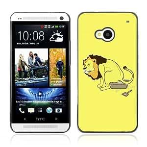 YOYOSHOP [Funny Cute Lion Illustration] HTC One M7 Case