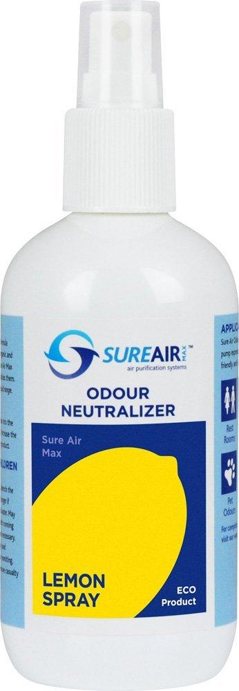 Sureair Lemon Air Freshener -Odour neutralizer spray removes Smells & Nasty Odours in the Home,Office or Car
