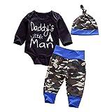 Emmababy Newborn Daddy's Little Man Print Baby Boys